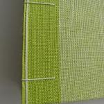 Guest Book in Green Linen -..