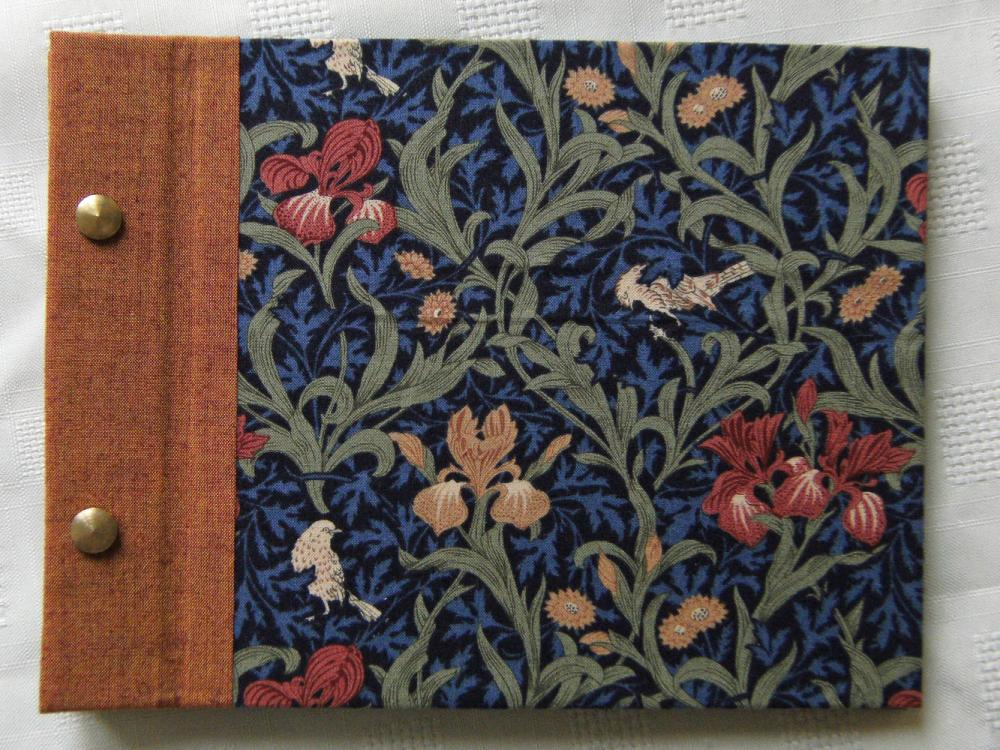 "Photo Album with post binding - William Morris ""Iris"" - Little 8x6"" Album - Ready to ship"