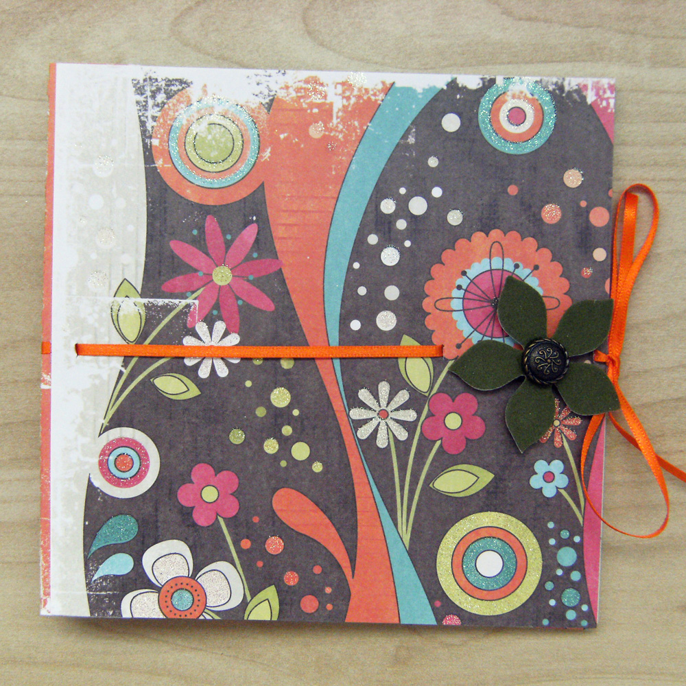 Funky Nonsense Bright Mini Scrapbook 6x6 ins, in Warm Colors