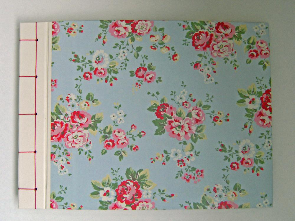 Baby Shower Album Cath Kidston Roses in Blue : Large Lovely Album - Ready To Ship