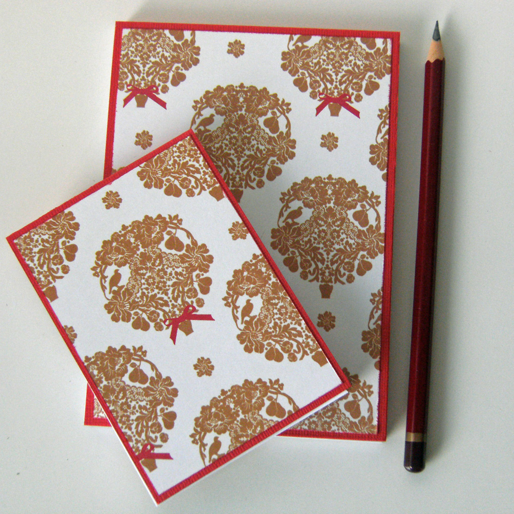 Partridges in Pear Trees - Christmas Notebook Set