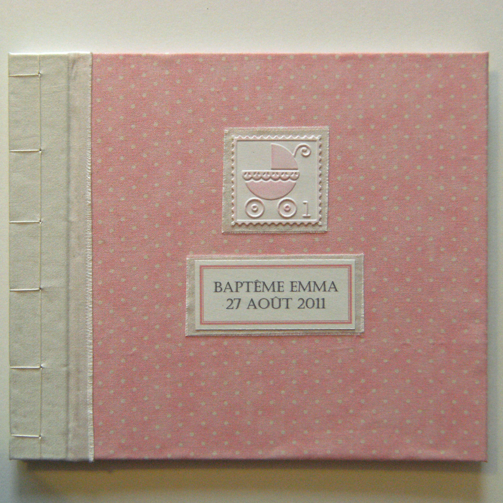 Baby Guest Book or Photo Album - Christening, Baptism, Naming Day - 8.25 x 7.25ins - Your Color Scheme - Made to Order