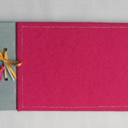 Cute Pink Felt Scrapbook Photo Album